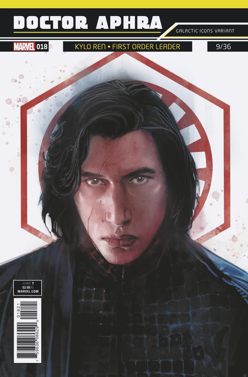 """Doctor Aphra #18 (Rod Reis Galactic Icon """"Kylo Ren"""" Variant Cover) (28.03.2018)"""