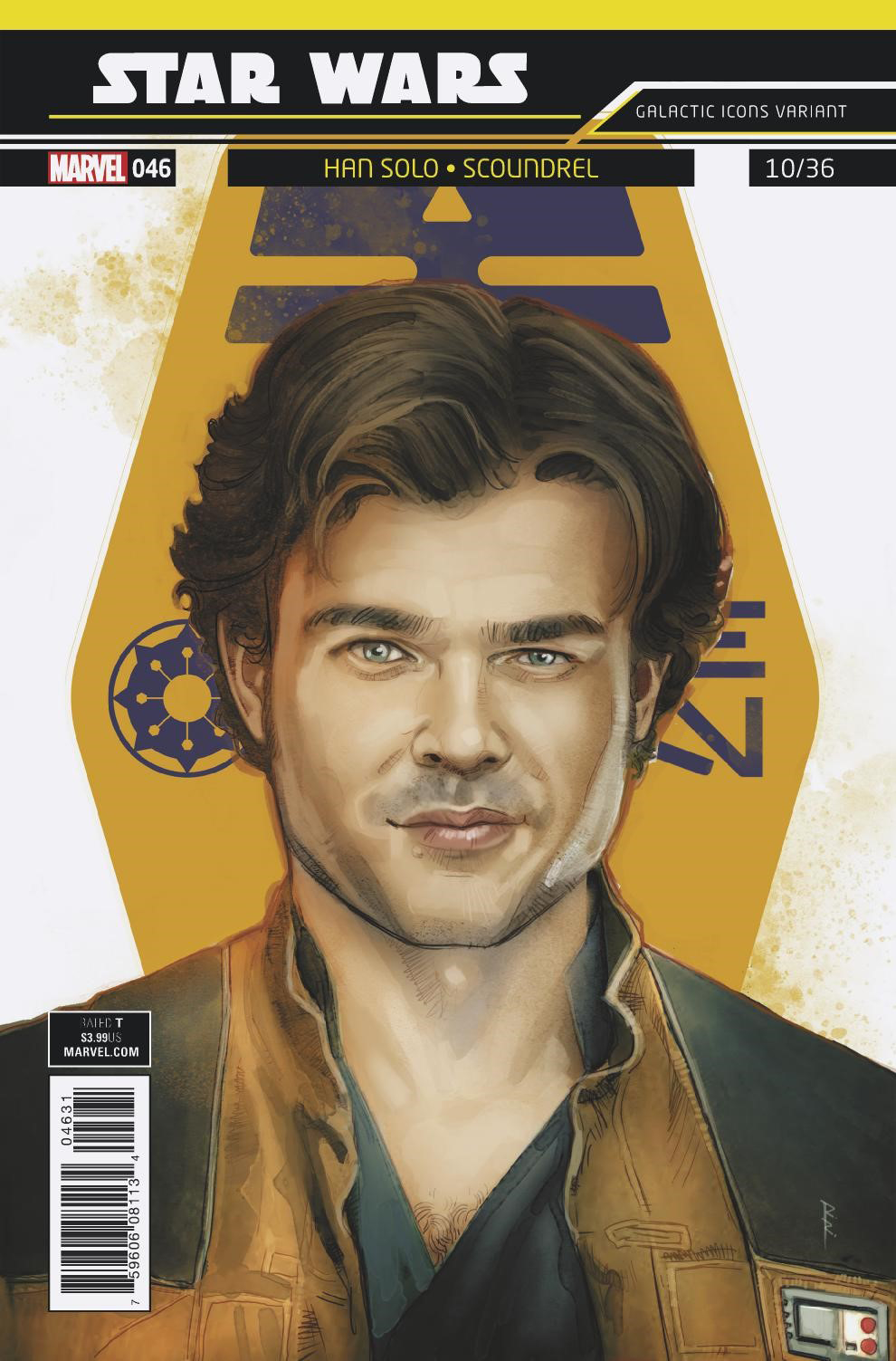 """Star Wars #46 (Rod Reis Galactic Icon """"Han Solo"""" Variant Cover) (04.04.2018)"""