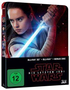 Star Wars: Die letzten Jedi 3D (Limited Steelbook Edition) (Blu-ray 3D + Blu-ray + Bonus Blu-ray) (26.04.2018)