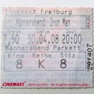 Kinoticket <em>Iron Man</em> (2008)