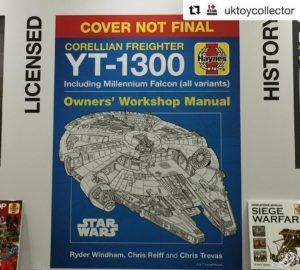 <em>Corellian Freighter YT-1300 Owners' Workshop Manual</em> vorläufiges Cover