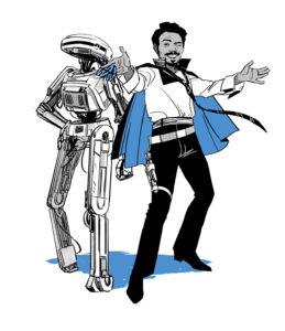Lando und L3-37 (<em>Flight of the Falcon</em>)