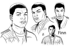 Finn Konzeptzeichnung von Luke Ross