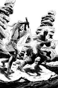 Darth Maul vs Eldra Kaitis Zeichnung 1