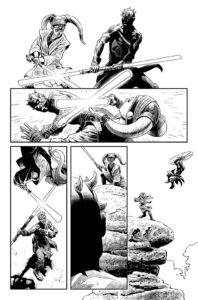 Darth Maul vs Eldra Kaitis Zeichnung 3