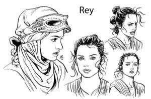 The Force Awakens Rey Konzept von Luke Ross