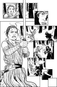 The Force Awakens Rey vs Kylo Ren