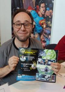 Alain Mauricet mit signiertem Heft