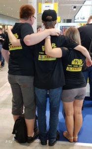 Das Jedi-Bibliothek-Team: Florian, Ines und Christoph
