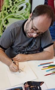 Alain Mauricet zeichnet Chewbacca 1