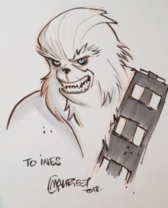 Fertige Chewbacca-Zeichnung