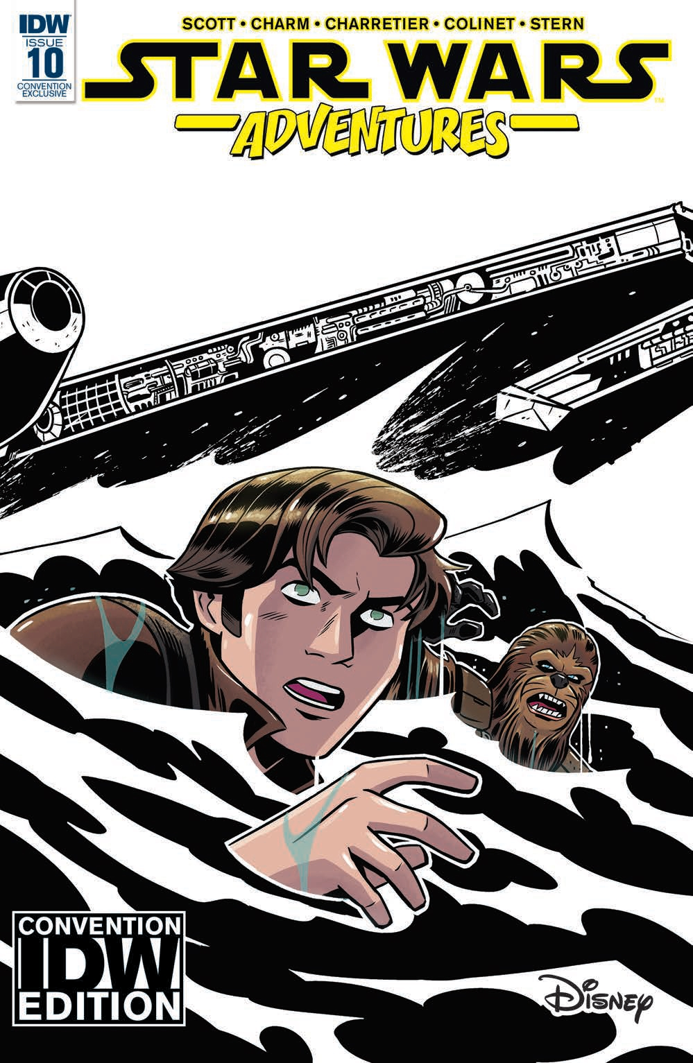 Star Wars Adventures #10 (Derek Charm Convention Black & White Variant Cover) (19.07.2018)