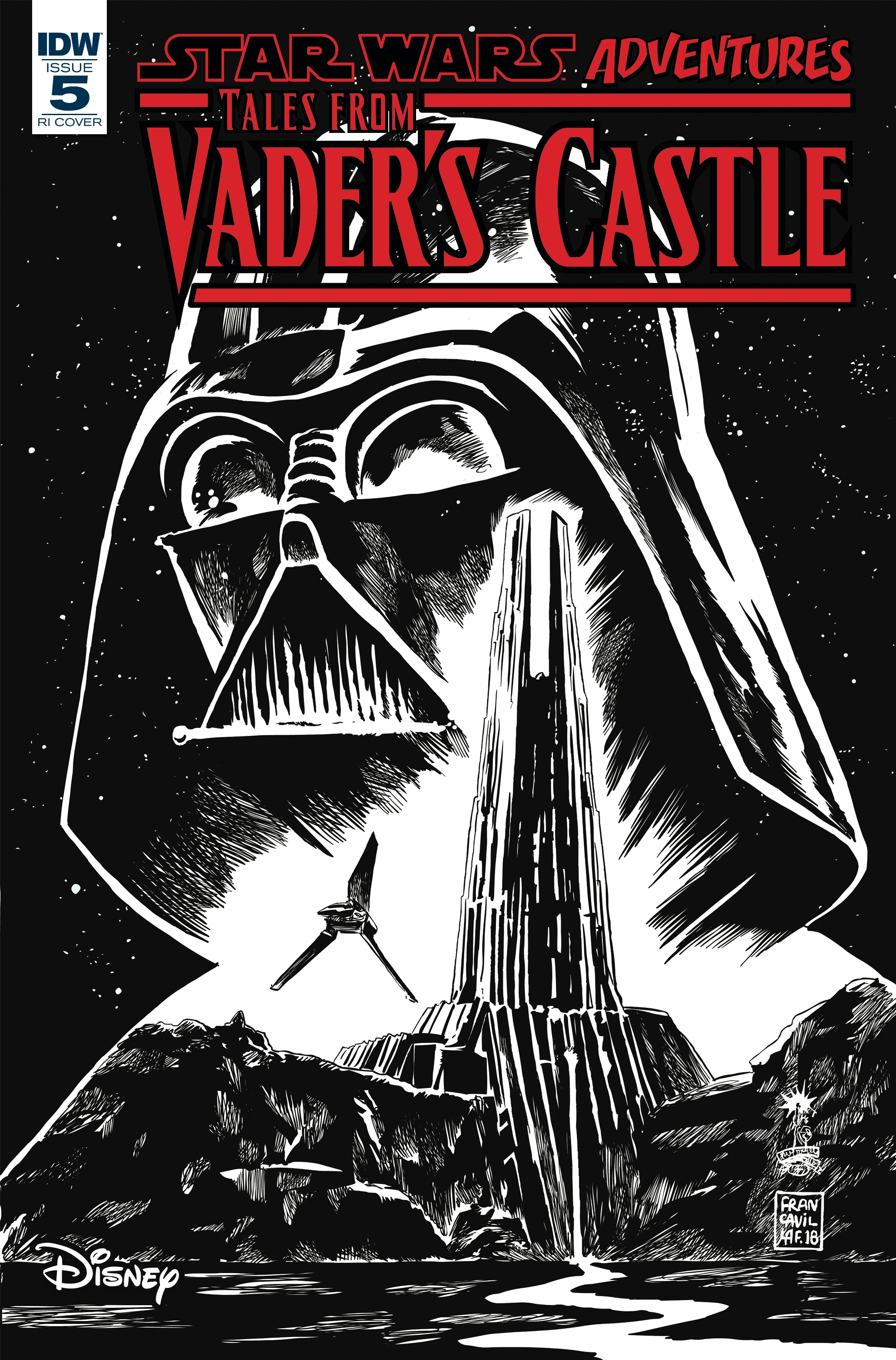 Star Wars Adventures: Tales from Vader's Castle #5 (Francesco Francavilla Black & White Variant Cover) (31.10.2018)