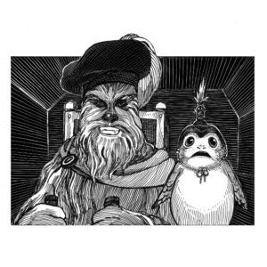 <em>William Shakespeare's Jedi the Last</em> - Chewie mit Porg