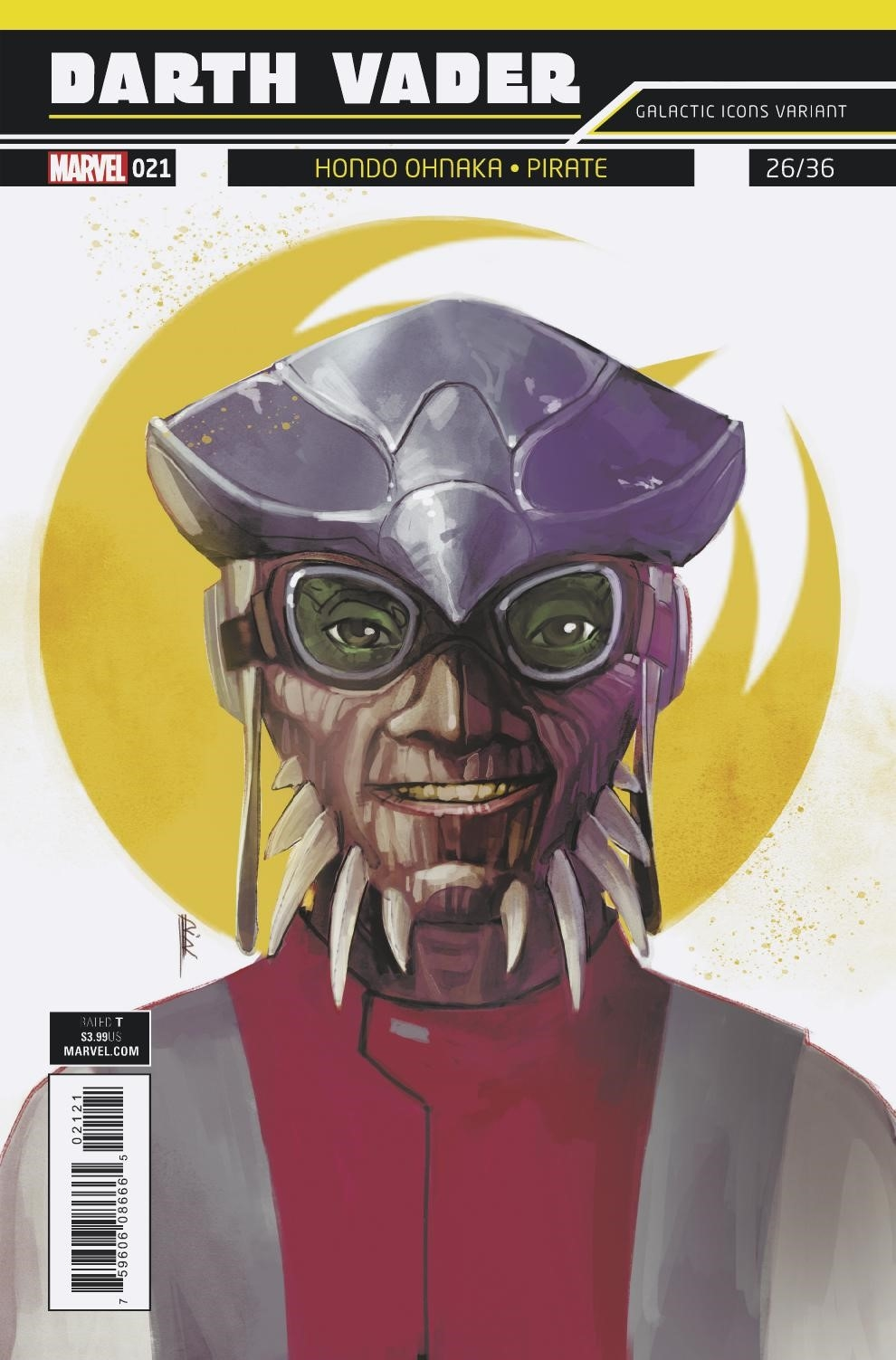 "Darth Vader #21 (Rod Reis Galactic Icon ""Hondo Ohnaka"" Variant Cover) (12.09.2018)"