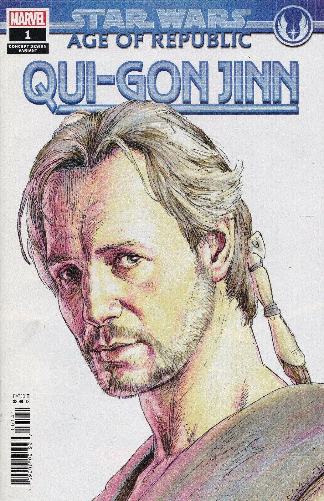 Age of Republic: Qui-Gon Jinn #1 (Iain McCaig Concept Design Variant Cover) (05.12.2018)