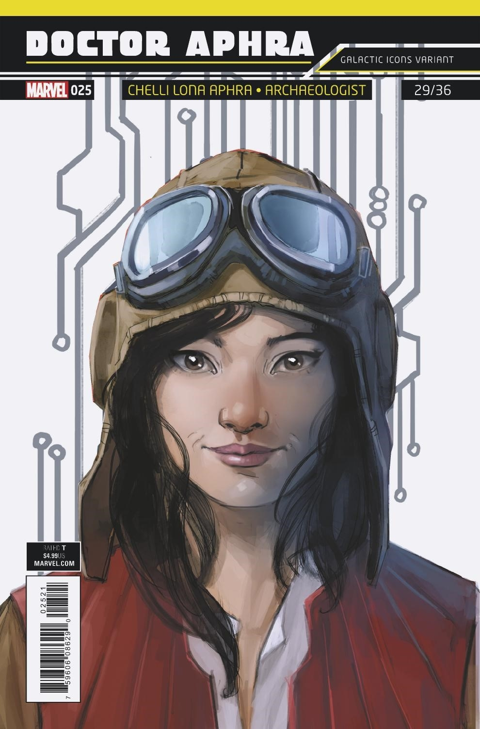 """Doctor Aphra #25 (Rod Reis Galactic Icon """"Chelli Lona Aphra"""" Variant Cover) (24.10.2018)"""