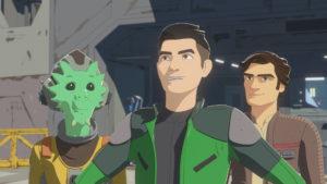 Kaz findet in Neeku und Poe neue Freunde.