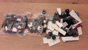 LEGO Star Wars Buch & Steine-Set: Galaktische Verfolgungsjagd - Bauteile