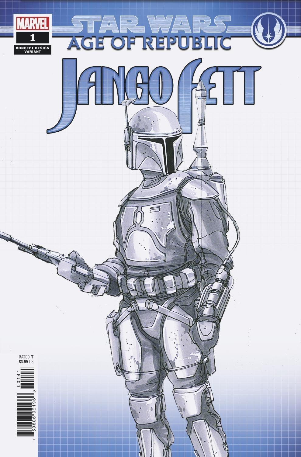 Age of Republic: Jango Fett #1 (Doug Chiang Concept Design Variant Cover) (09.01.2019)