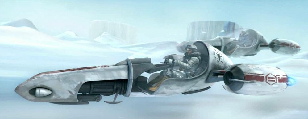 Obi-Wan und Anakin in ihren Freeco-Schlitten (Quelle: Jedipedia.net)