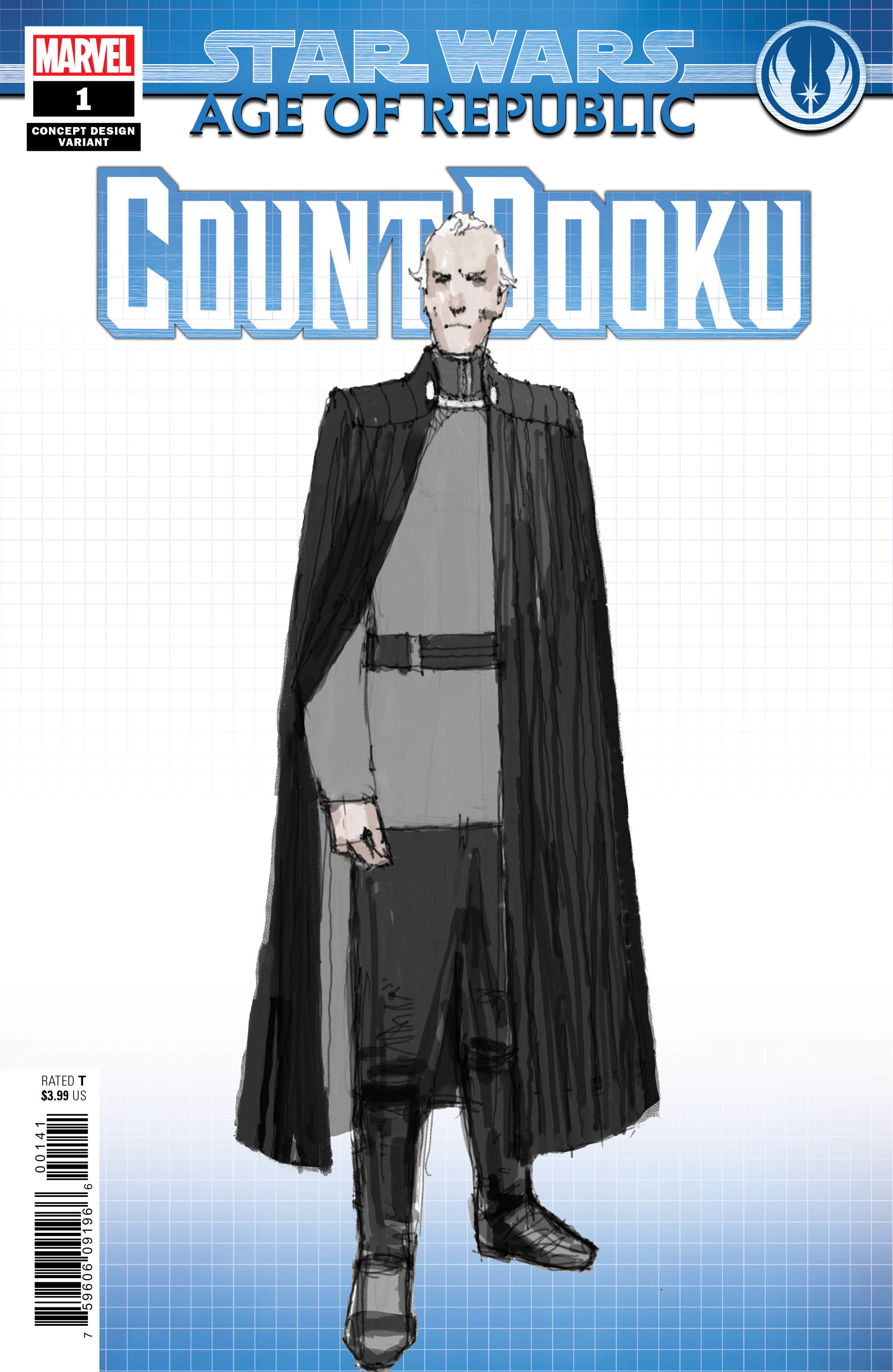 Age of Republic: Count Dooku #1 (Dermot Power Concept Design Variant Cover) (13.02.2019)