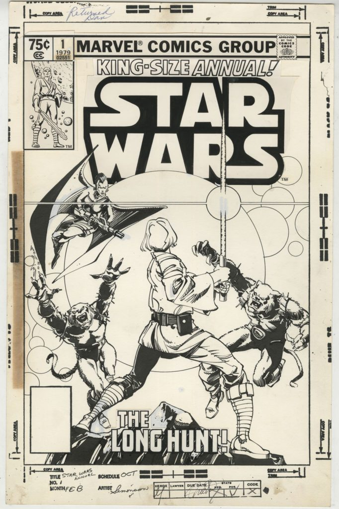 Star Wars Annual #1 (1979, Cover-Skizze von Walter Simonson)