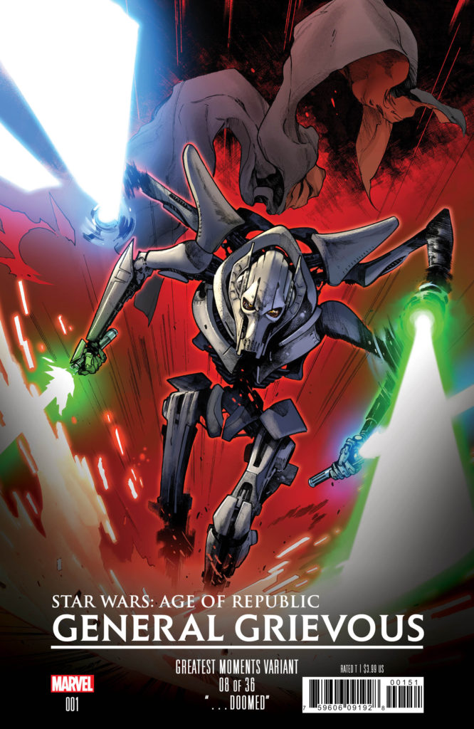 Age of Republic: General Grievous #1 (Pepe Larraz Greatest Moments Variant Cover 8 of 36) (13.03.2019)