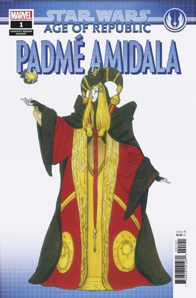 Age of Republic: Padmé Amidala #1 (Iain McCaig Concept Design Variant Cover) (06.03.2019)