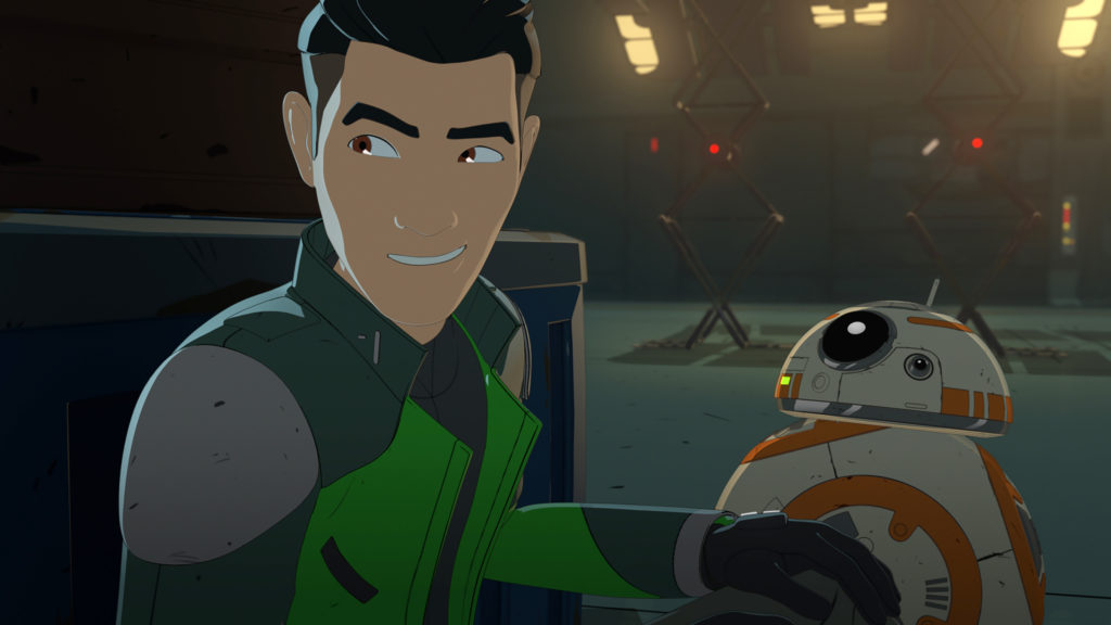 Kaz und BB-8 in Star Wars Resistance ©2019 & TM Lucasfilm Ltd.