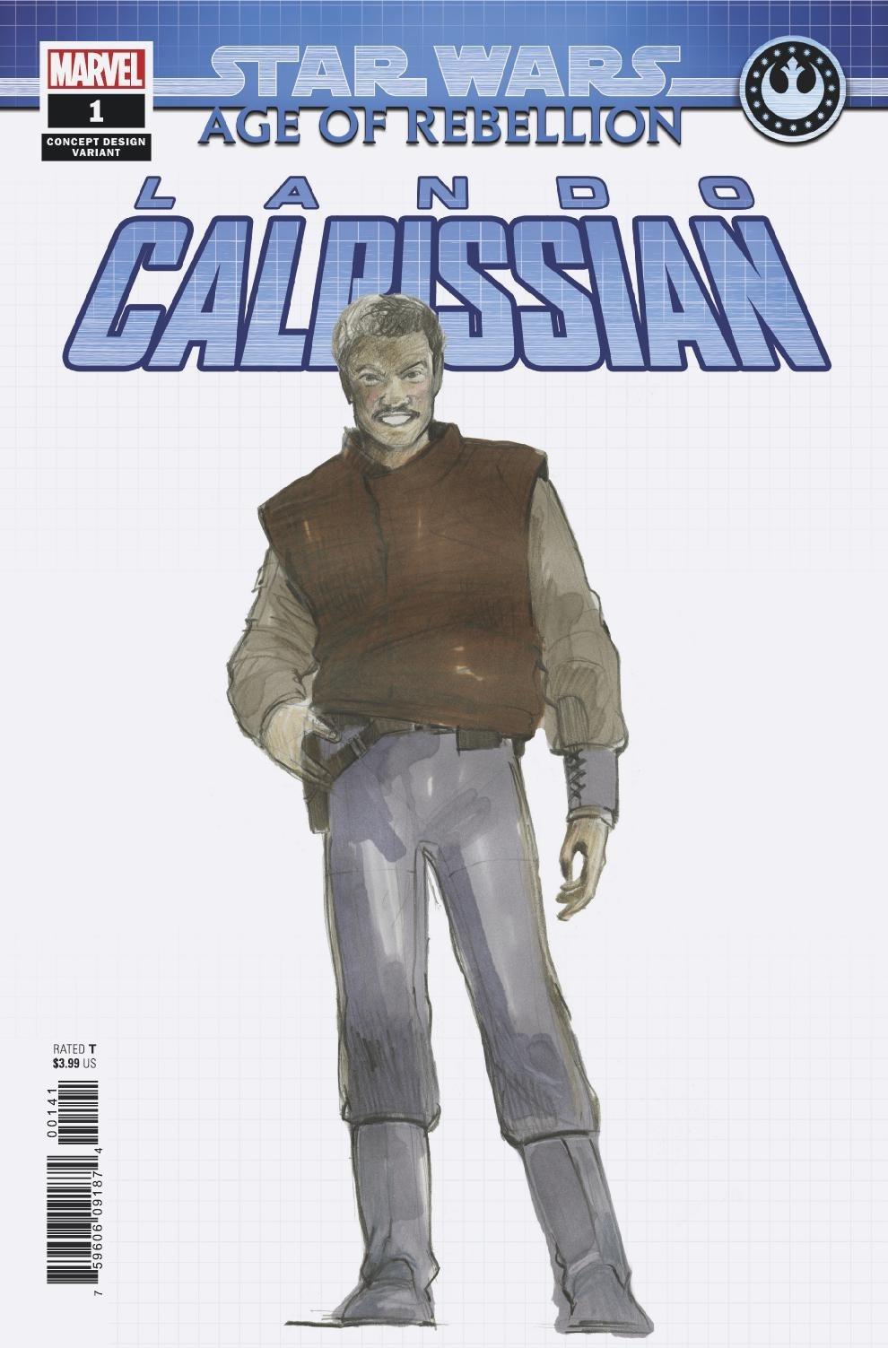 Age of Rebellion: Lando Calrissian #1 (Nilo Rodis-Jamero Concept Design Variant Cover) (15.05.2019)