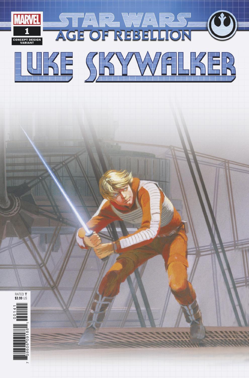 Age of Rebellion: Luke Skywalker #1 (Ralph McQuarrie Concept Design Variant Cover) (05.06.2019)