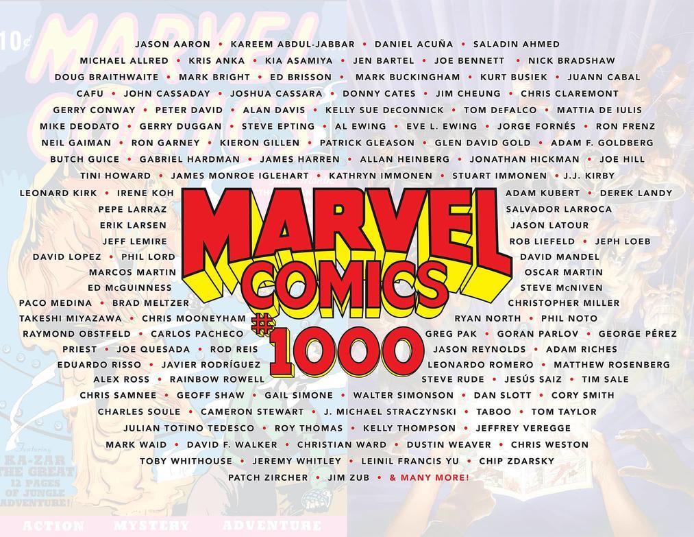 <em>Marvel Comics</em> #1000 Autoren Künstler