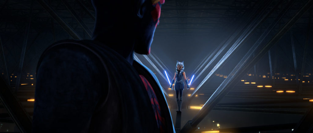 Maul und Ahsoka in <em>The Clone Wars</em> Staffel 7