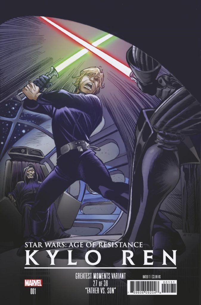 Age of Resistance: Kylo Ren #1 (Ron Frenz Greatest Moments Variant Cover 27 of 36) (25.09.2019)