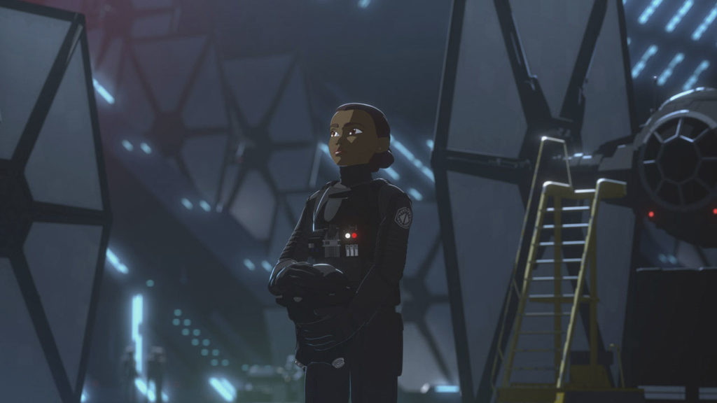 <em>Star Wars Resistance</em> Tam mit TIE