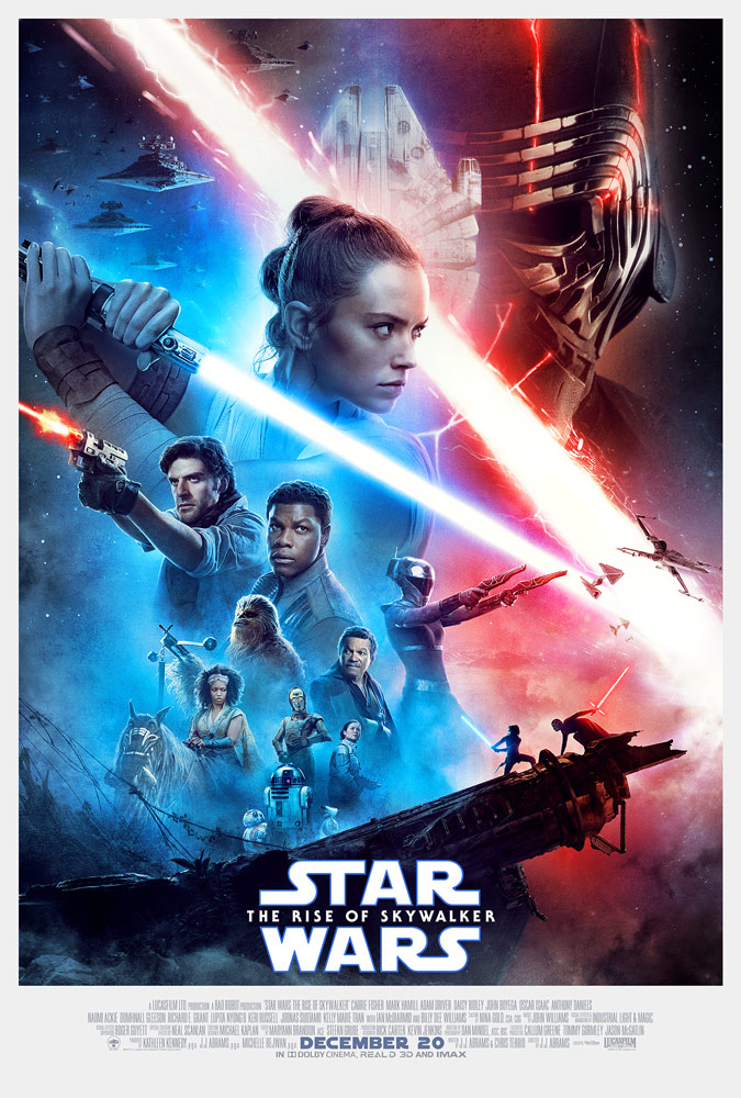 Englisches Filmplakat zu <em>The Rise of Skywalker</em>