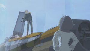 Haustier Boggles ist blinder Passagier in Kaz's Jäger.