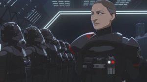 Lieutenant Galek drillt die TIE-Piloten darauf, dass der Erfolg der Mission über die Rettung von Kameraden geht.