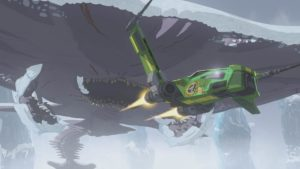 Yeager wird auf dem Eisplaneten von einer gefährlichen Kreatur angegriffen.