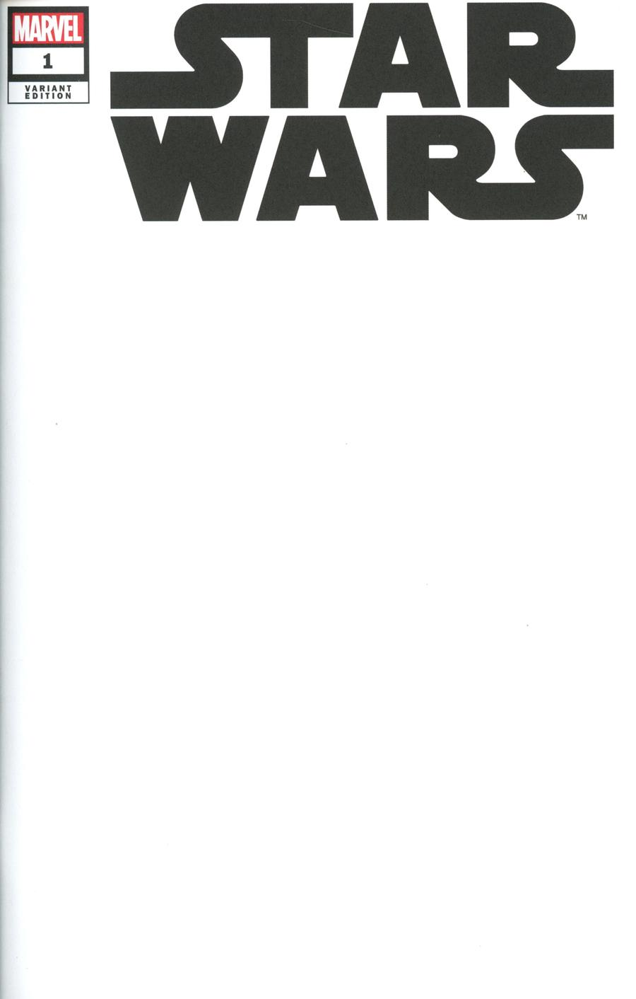 Star Wars #1 (Blank Variant Cover) (01.01.2020)