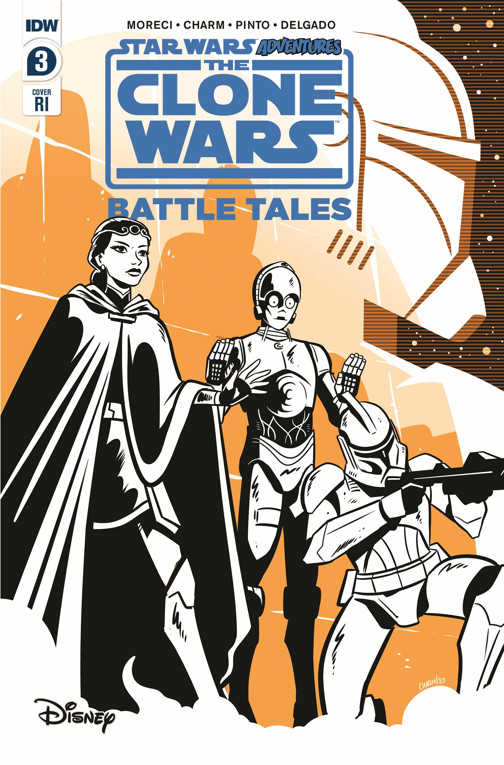 The Clone Wars - Battle Tales #3 (Derek Charm Variant Cover) (15.04.2020)