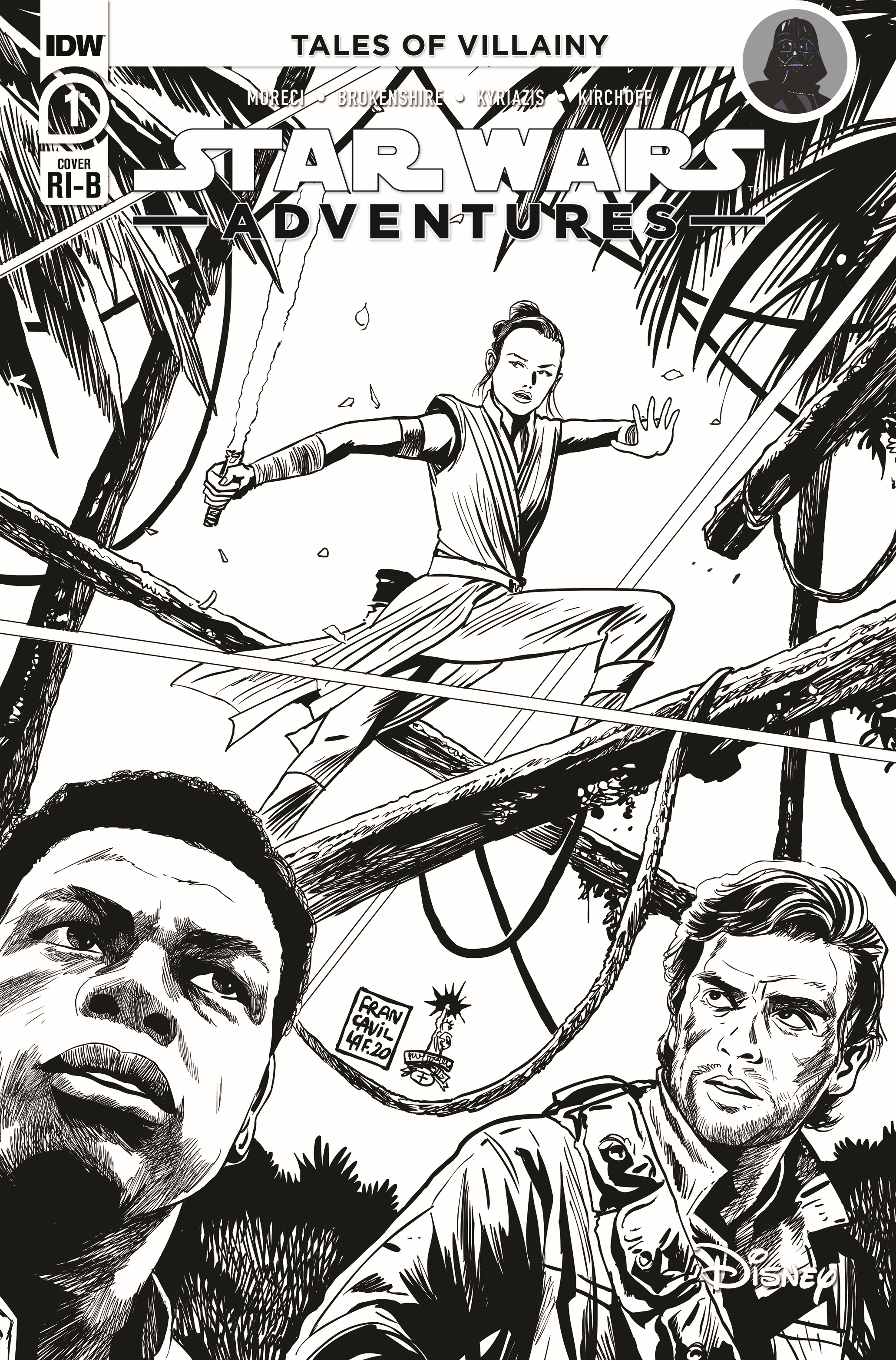Star Wars Adventures #1 (Francesco Francavilla Black & White Variant Cover) (07.10.2020)