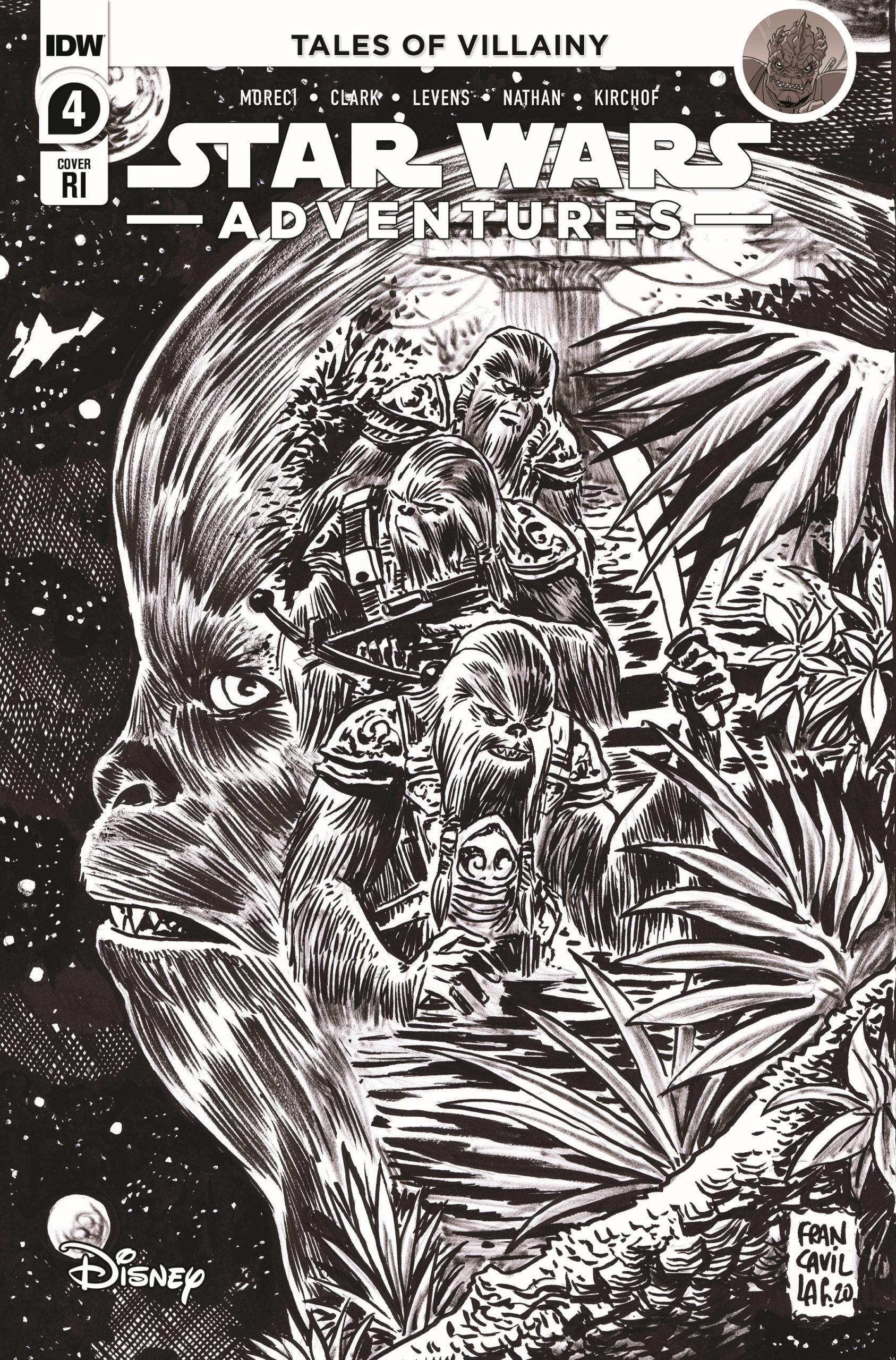 Star Wars Adventures #4 (Francesco Francavilla Black & White Variant Cover) (02.12.2020)
