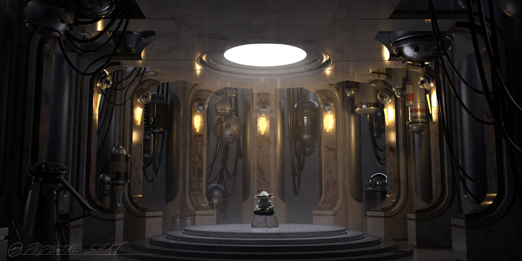 """Yoda - Concept Art für """"Temple of Darkness"""""""