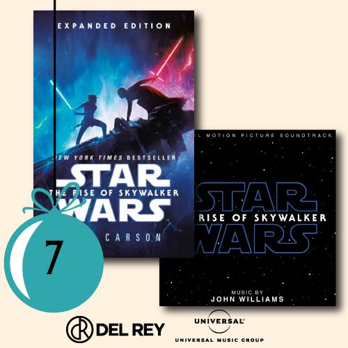 1x The Rise of Skywalker als englisches Taschenbuch und 1x der Soundtrack zu The Rise of Skywalker