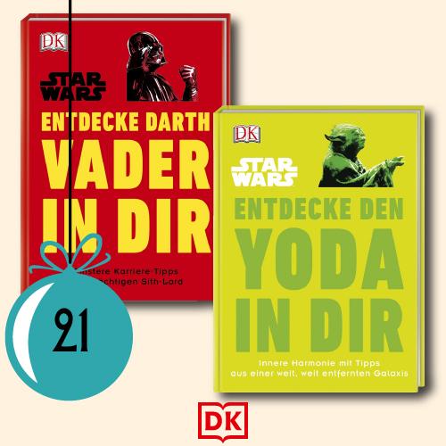 1x Entdecke Darth Vader in dir und 1x Entdecke den Yoda in dir