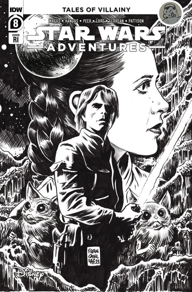Star Wars Adventures #8 (Francesco Francavilla Black & White Variant Cover) (18.08.2021)
