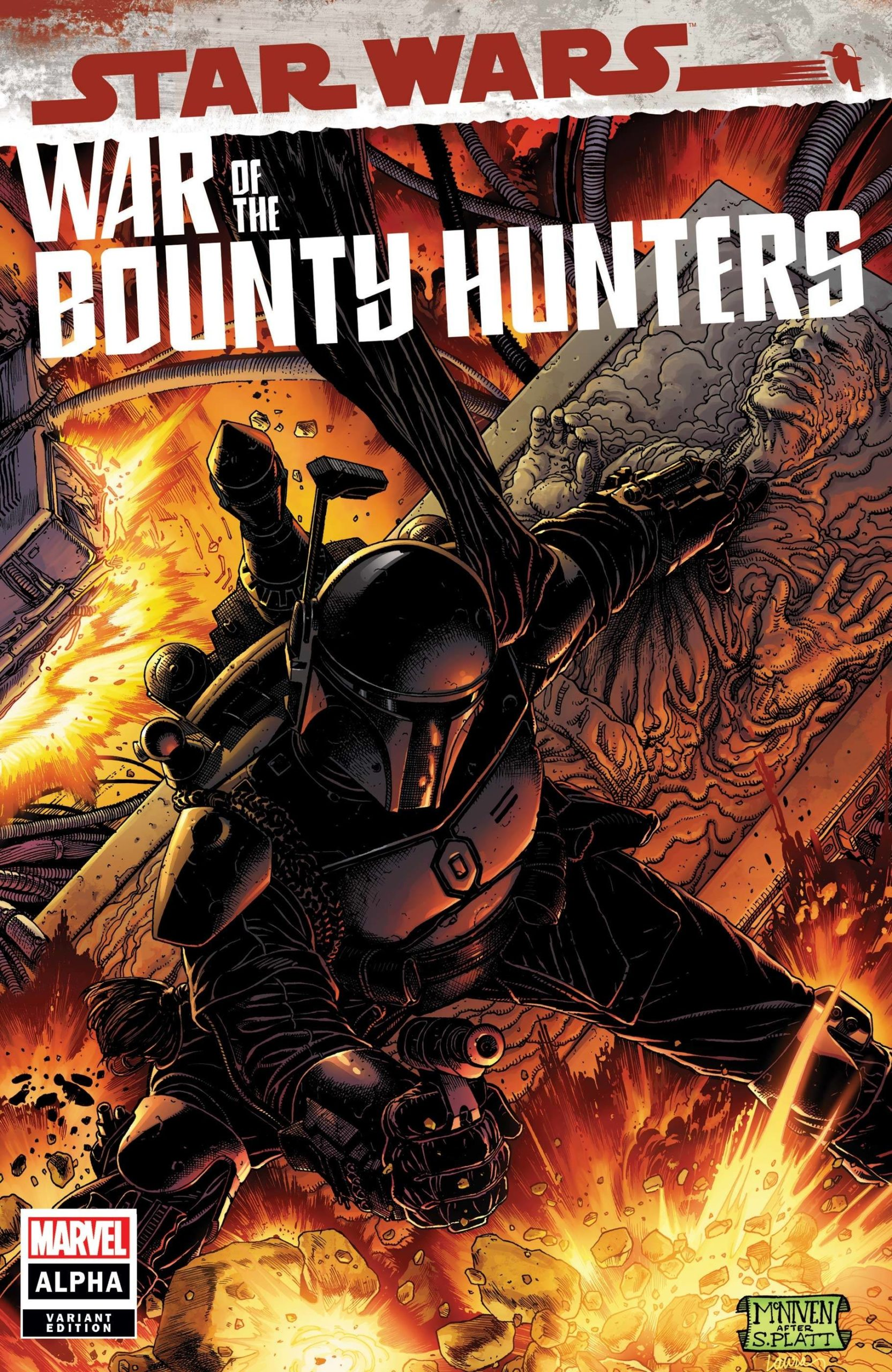 "War of the Bounty Hunters Alpha #1 (Steve McNiven ""Boba Fett Black Armor"" Variant Cover) (05.05.2021)"