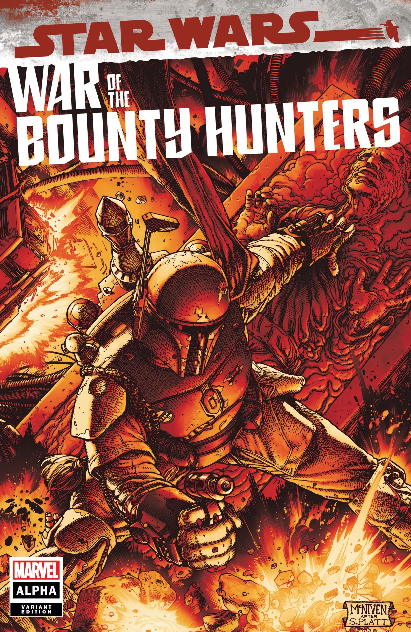 War of the Bounty Hunters Alpha #1 McNiven Crimson Variant